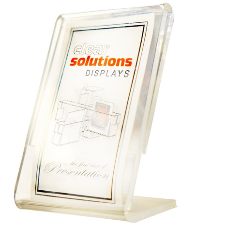 Clear acrylic holder for signs or pictures. Available in many sizes to suit any need.