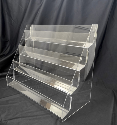 8975 clear four tier card display