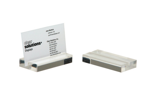 simple, modern, clear acrylic business card or place card holder