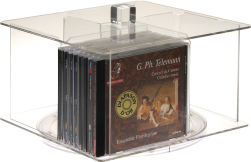 Clear acrylic carousel module for 32 CDs.