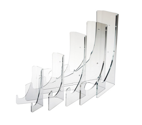 clear acrylic plate stands for countertop or wall mounting