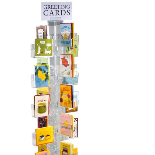 Budget Acrylic Slatwall Narrow Greeting Card Display Rack Gift//Card Shop Display
