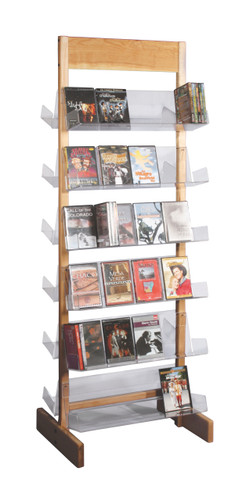 Solid maple frame which holds clear acrylic shelves - very attractive retail display.