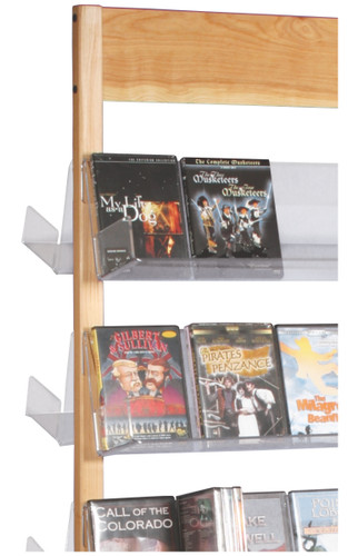 Solid maple frame which holds clear acrylic shelves - very attractive retail display. Detail