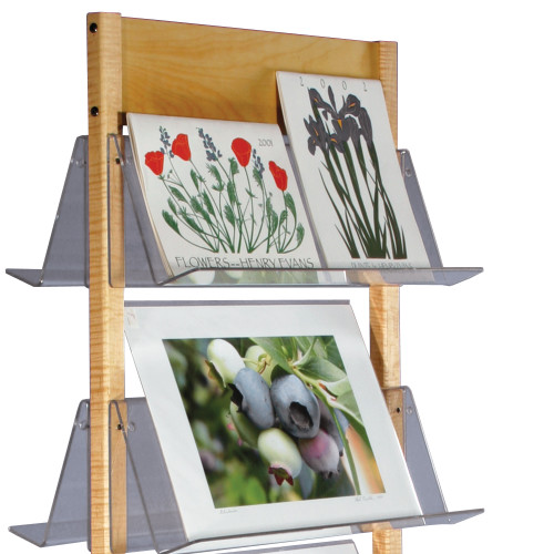 Floor Stand, maple uprights  perfect for art prints, calendars, coffee table books.