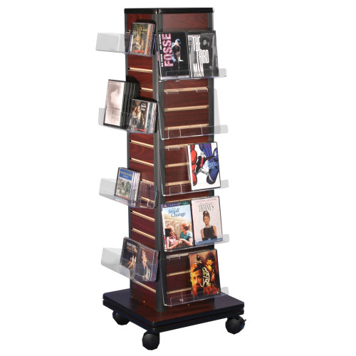 Floor Spinner with slatwall, perfect for any retail space. Great for DVDs, CDs, books, cards, card boxes, and any number of accessories.