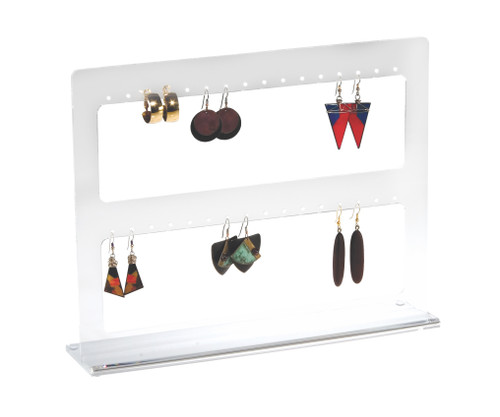 Clear acrylic multiple earring display stand