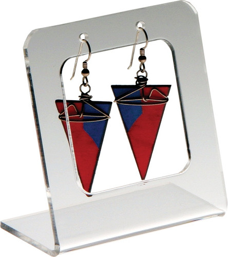 Clear acrylic single pair earring display.