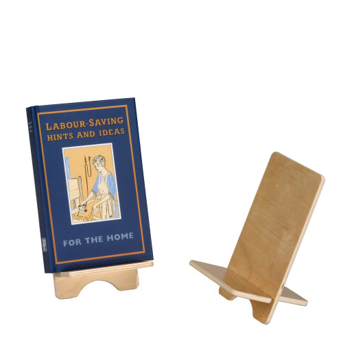 Single book holder in birch plywood.