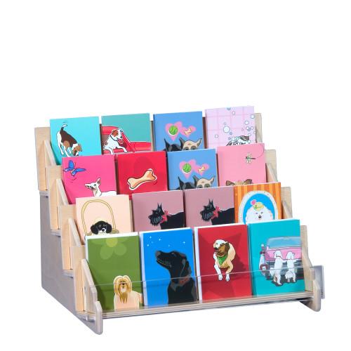 4909 wood riser display for gift enclosure cards.