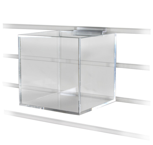 Five Sided Acrylic Cubes for Slatwall (choose size)