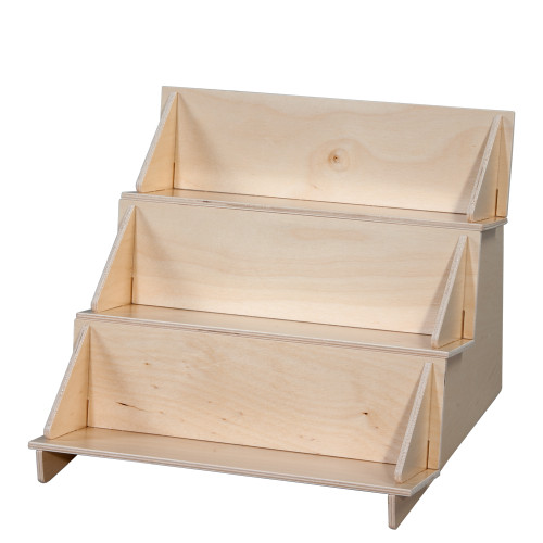 Little three level shelf for countertop, perfect for point of sale retail display.
