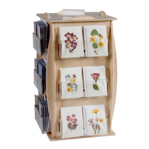 446-24 countertop spinner, shown with flower cards