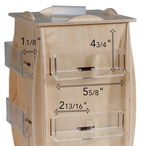 446-24 countertop spinner, shown with measurements