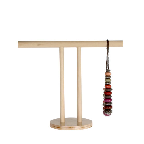 """10"""" tall ply T-Bar accessories display for scarves and necklaces."""