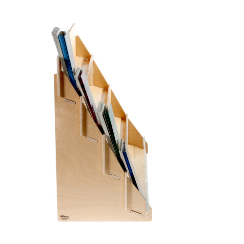 4975, Birch Plywood Counter Top Countertop display for greeting cards, four 4 shelves