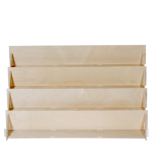 "(4975) Four Tier Birch Countertop Display, 27"" wide"
