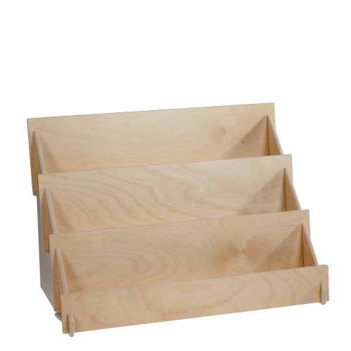 Birch Ply Three Tier Countertop Display with Clear Acrylic Front Lip