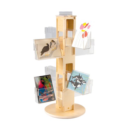 417 small birch countertop spinner, retail, cards