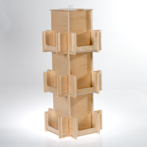 All birch compact countertop spinner.