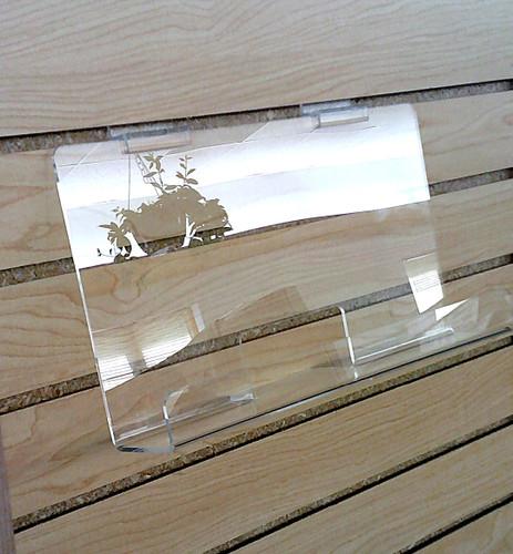 """Back Aisle Special - 13"""" wide Slatwall Shelf stocked on slatwall empty on slatwall"""