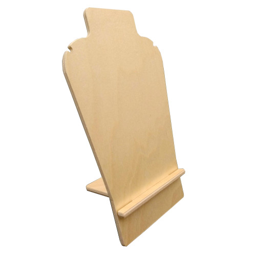 """Jewelry display for earrings and necklaces. Birch 10""""h ships flat with measurements."""