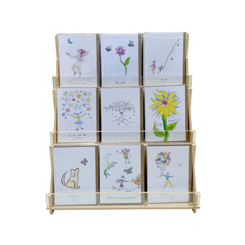 4938 Clear Solutions A2 card Rosie's Wonders Retail display for A2 sized greeting cards (4.25 By 5.5 inches) for maximum visibility of all card fronts