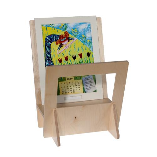 4814 - wood print bin with window.