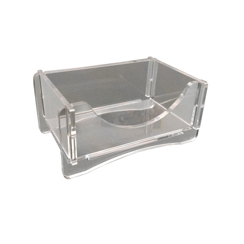 7947 - clear acrylic business card holder, comes a part for shipping and storage.