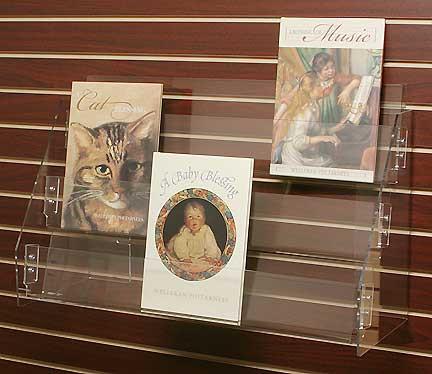 Book Calendar Rack W 3 Shelves For Slatwall