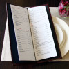 Portrait Slimline Menu Cover