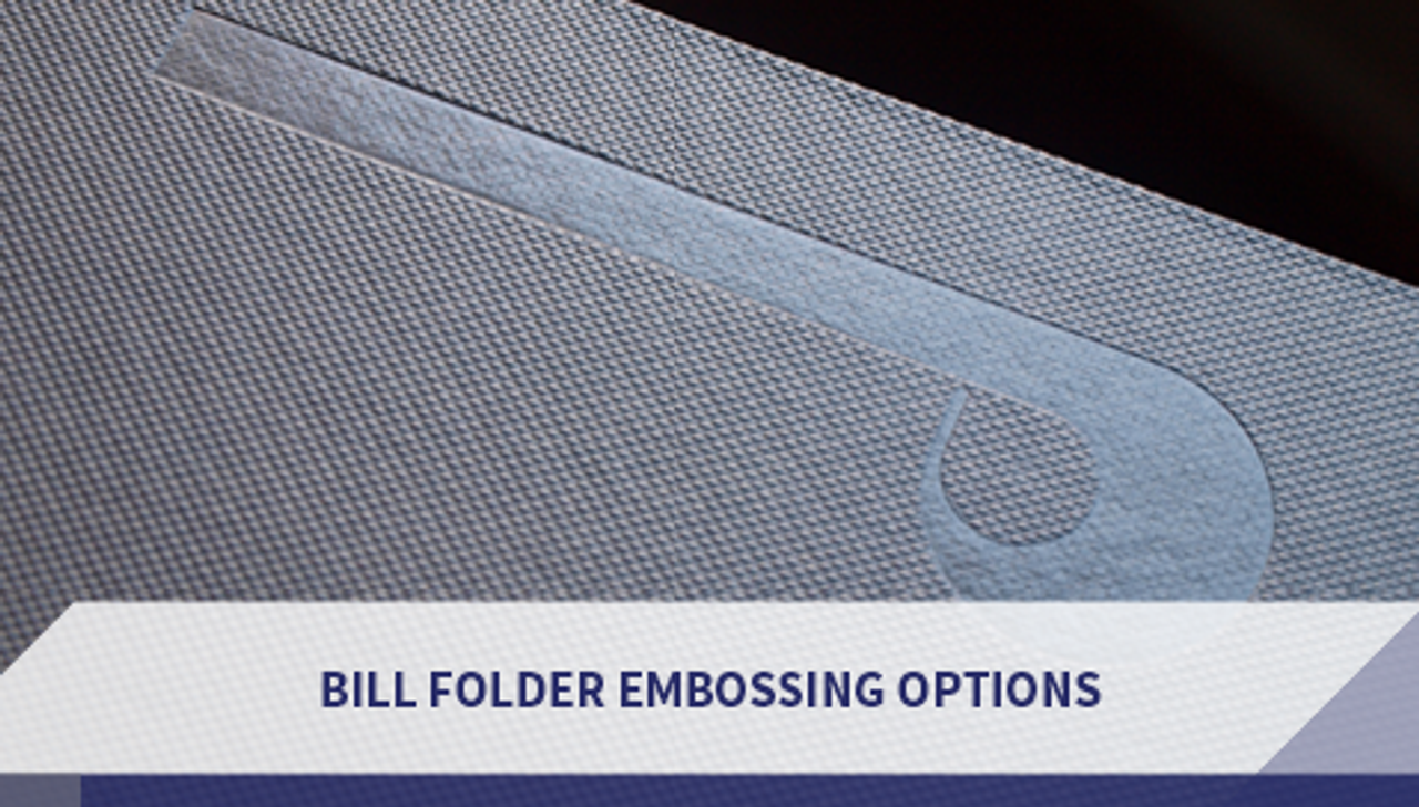 Bill Folder Embossing Options