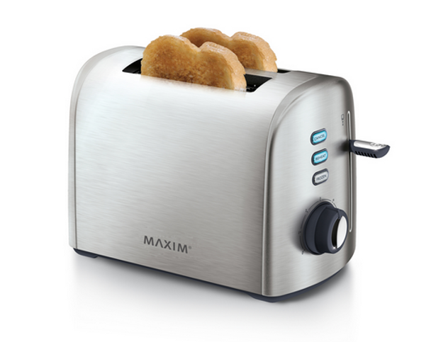 Maxim Kitchen Pro 2 Slice Stainless Steel Toaster