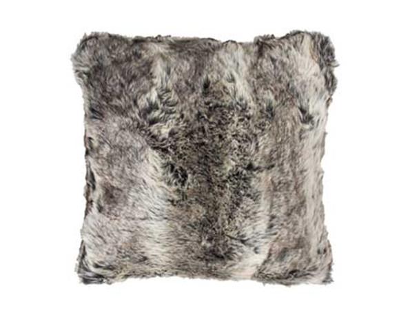 Faux Fur Printed Cushion 43cm