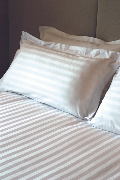 Sateen Stripe Quilt Cover Set