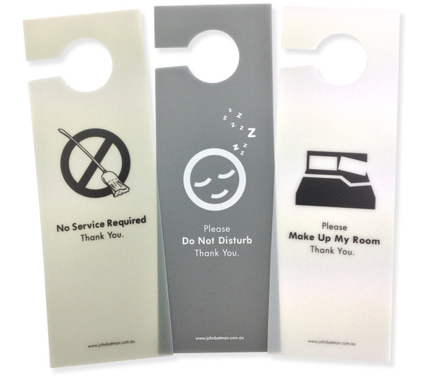 Trans Poly Door Sign Set