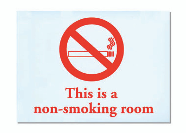 No Smoking Adhesive Sign
