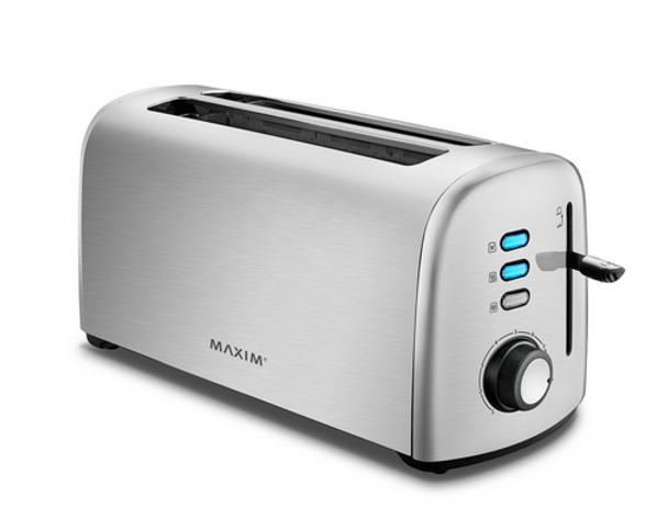 Maxim Kitchen Pro 4 Slice Stainless Steel Toaster