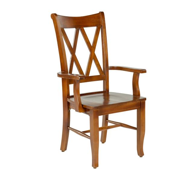 Crossings Wood Seat Arm Chair