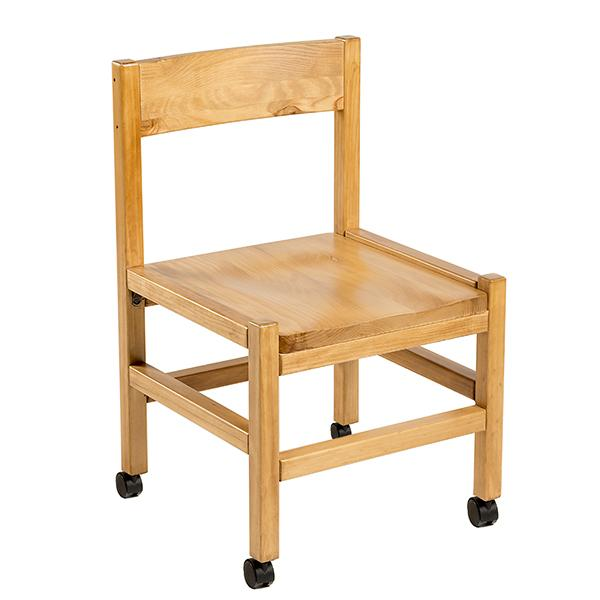 Classic Solid Wood Side Chair with Casters