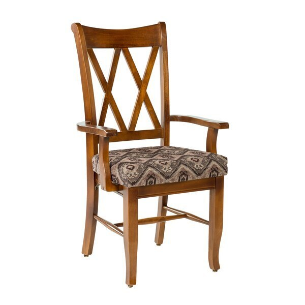 Crossings Arm Chair w/Fabric Seat