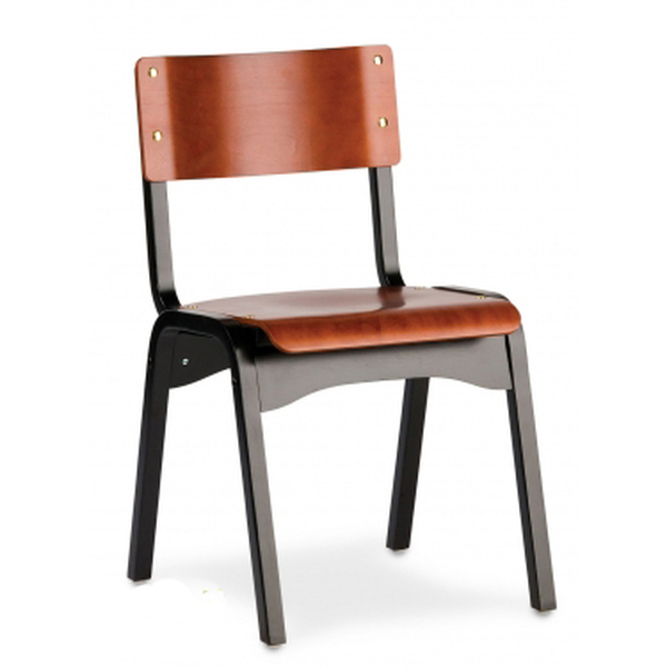 Carlo Chair - Black & Cherry