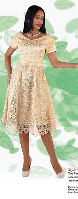 Chancele 9544 Dress - Champagne