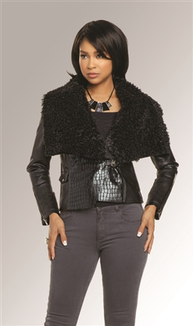 Love the Queen 17317 Leatherette Jacket