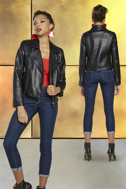 Love the Queen 17323 Sutted Leatherette Jacket