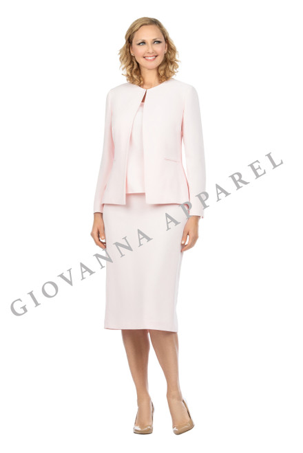 Giovanna S0721 Skirt Suit - Pink