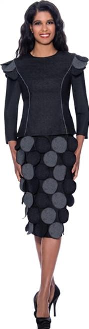 Devine Sport DS62792 Denim Skirt Set - Black