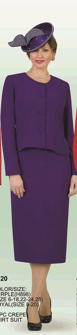Lily Taylor 2920 2Pc Skirt Suit