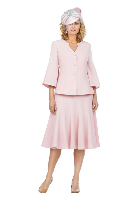 Giovanna 0730 Skirt Suit - Pale Pink