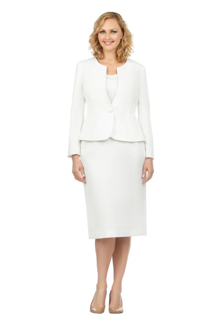 Giovanna S0713 Skirt Suit - Ivory
